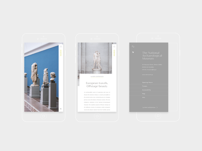 Exhibition website / app
