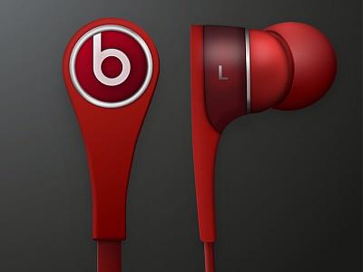 Beats earphones tone pulse rythim red beats accessory music dr dre earphones