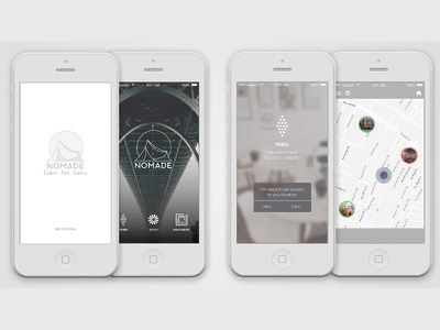 Nomade iPhone App concept discover adventure hipster travel application iphone