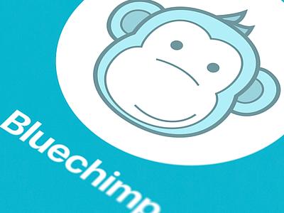 BluChimp tracker first bananas blue fun monkey chimp interface ui iphone application tracker