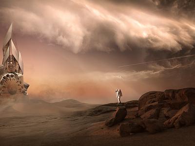 Intraplanetarium encounter science fiction universe red planet astronaut scifi sci-fi space planet mars
