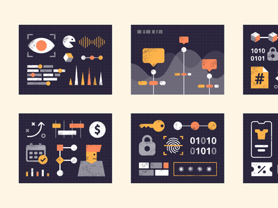 Dash Illustration - Free download machine learning security analytics ai dashboad ui vector download free illustration
