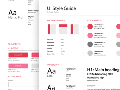 Style Guide - e-commerce app  simple branding forms ui elements colors fonts typo guide ui guide style guide