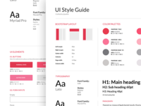 Style Guide - e-commerce app