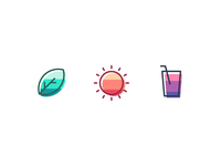 Flat gradient style icons