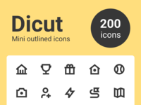 Dicut - Mini outlined icons