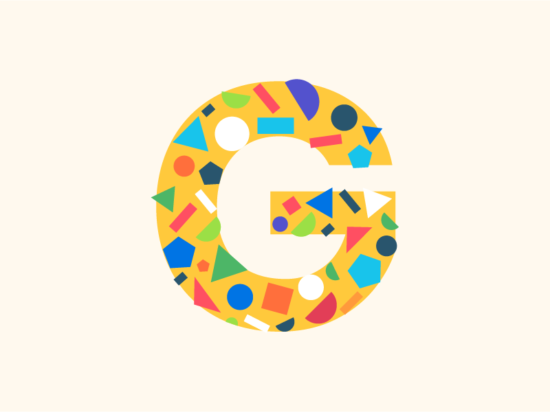 Geometrical art - G geometic simple web typography 36daysoftype graphic vector illustration