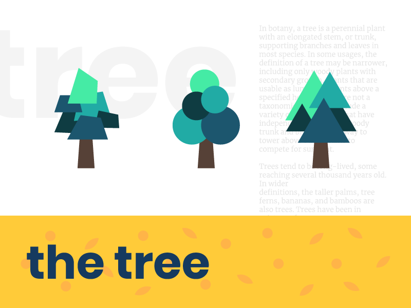 The tree poster abstract simple minimal illustration graphic vector art tree
