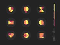 Minimal Icons abstract geometric illustration art ui app web graphic vector simple icons minimal