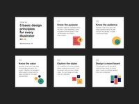 Design principles  for an Illustrator