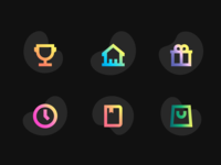 Gradient icons for web app