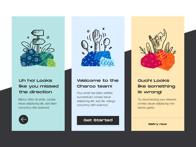 Charco - Free Illustrations web app product download free illustrations screens onboarding empty ui design