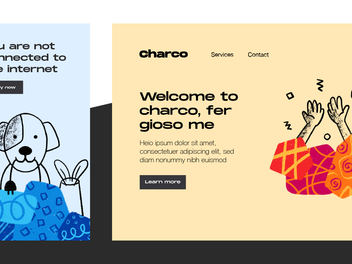 Charco - Free Illustrations web screens onboarding illustrations empty app download free ui design