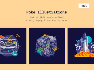 Poke - Free Illustrations