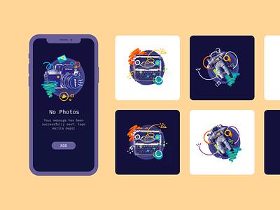 Poke Free illustrations design ui app web product free graphic illustration