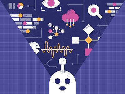Artificial intelligence editorial web illustration analytics machine learning artificial intelligence ai