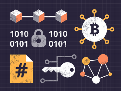 Dash FREE illustrations   Block chain ui security icons graphic vector machine learning blockchain illustrations free dash