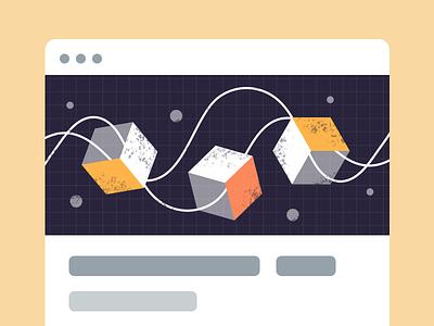 Dash FREE illustrations | Blockchain free machine learning editorial blog web ui vector graphic blockchain illustration