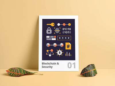 Dash illustrations | Poster free print security blockchain web vector graphic illustration