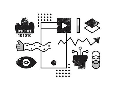 Machine learning | Hero illustration blog editorial ui geometric graphic illustration learning machine