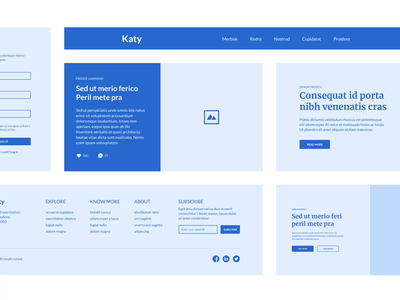 Katy wireframe kit - Coming soon components web visual atomic system design ux ui kit wireframe