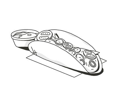 Taco graphic design art digital icon food mexico tacos procreate sketch daily design 2d flat illustration vector