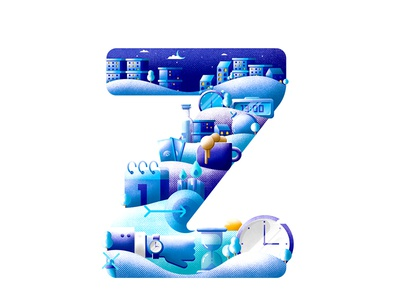 Time Theme on Letter Z