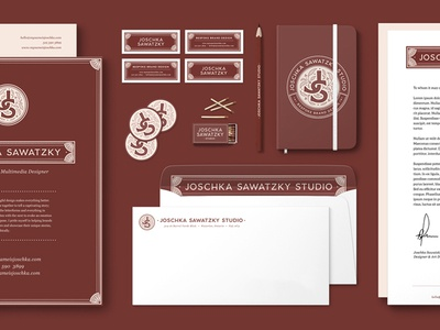 Joschka Sawatzky Studio stationery suite