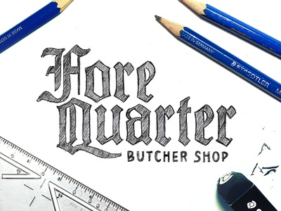 Fore Quarter Butcher Shop concept sketch