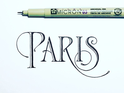 Paris lettering sketch
