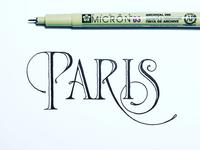 Paris lettering sketch