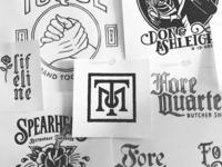 Assorted Logo Sketches