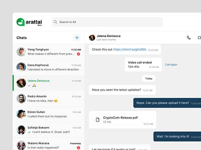 Message Web App instant message chat platform message platform collaboration zoho arattai profile list ui design message application chat application web app message app chat app
