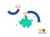 Cashback/Get Refund/Save Money Concept - Free Illustration