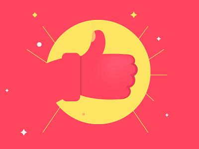 Tips Will Get You A Better Deal Illustration concept minimal deal sun love like facebook success challenge thumb up illustrator illustration