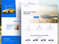 Car Lease Landing Page