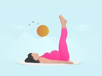 Pregnant woman exercising -01