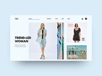 Zara Landing Page