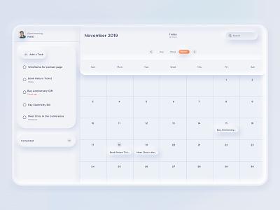 ToDo Task Manager / Calendar App Concept tool skeumorph collaboaration ui task management task list sketchapp calendar minimal todoapp todo