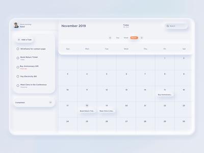 ToDo Task Manager / Calendar App Concept