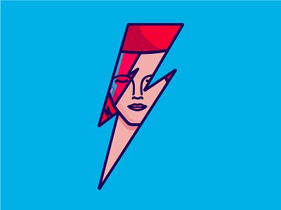 RIP Bowie portrait ziggy stardust tribute music illustration icon david bowie