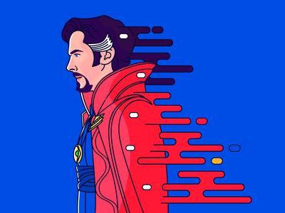 Doctor Strange magic illustration portrait super heroes movies benedict cumberbatch