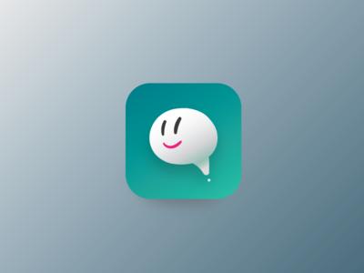 Messenger App Icon ghost mascot logo icon app messenger