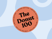 The Donut 100 brand design donut sticker fintech