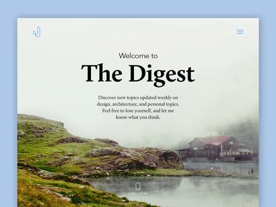 Fullscreen Image Blog Landing layout typography type card modern blog digital web design web ux ui