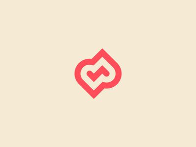 Random Logo Symbol heart random design identity symbol mark logo