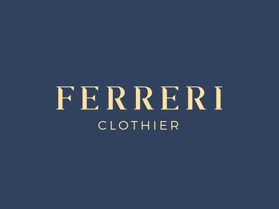 Ferreri Clothier Logo Redesign typography type serif modern logotype logomark rebrand redesign brand branding identity logo