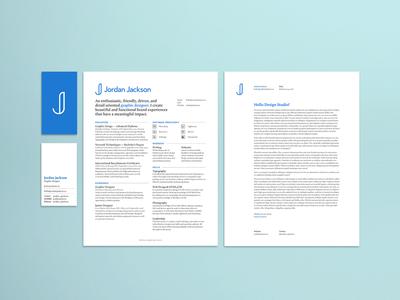 Personal Branding Assets branding brand internship intern hiring toronto job letterhead resume card business stationary