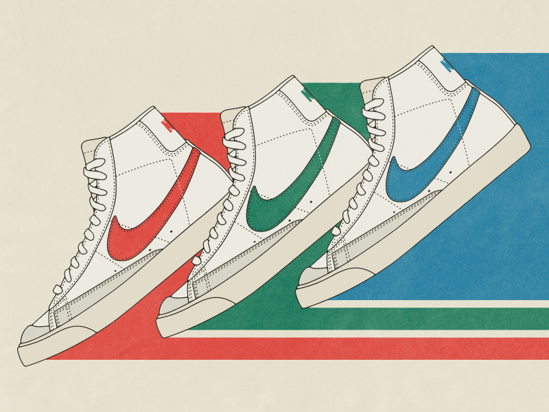 Nike Blazer Mid '77 by Kevin Post on Dribbble