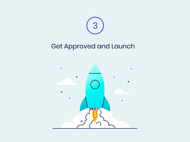 Weavr onboarding lift off liftoff vibrant rocket launch rocket launch get approved approve gradient onboarding illustration onboarding vector illustration vector